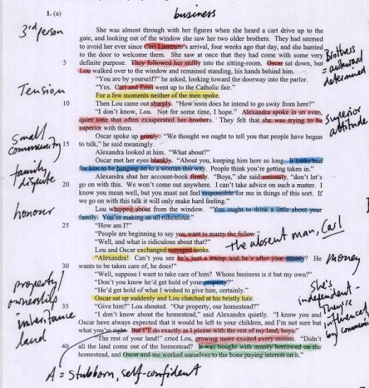 reading annotation Annotating an essay or short story annotation involves highlighting or preferably underlining key  these comments/labels help you make connections to the reading.